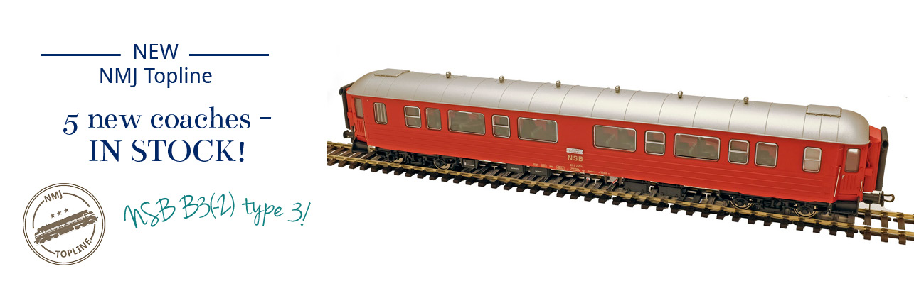 5 new NMJ Topline B3 type 3 passenger coaches now in stock - NMJT130.201, NMJT131.101, NMJT131.102, NMJT131.103 and NMJT131.201 !
