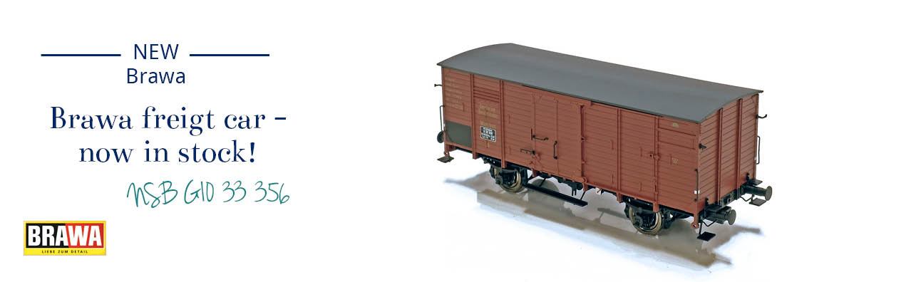 Brawa 49065 NSB Closed Freight Car G10 33 356 now in stock!