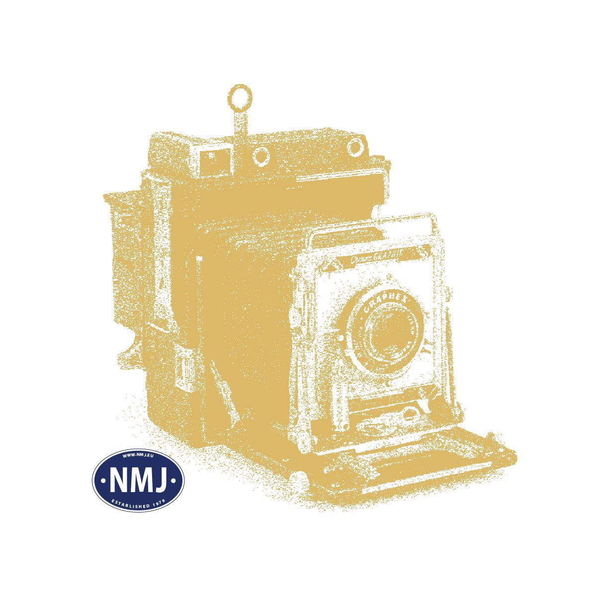 NMJE89904 - NSB Ellok El18 og 7 Personvogner, DC, N-Skala