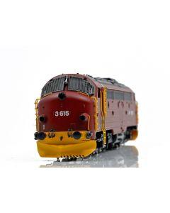 "Topline Lokomotiver, NMJ Topline NSB Di3a.615 ""Nohab"",new design, red/black, DC, NMJT90003"