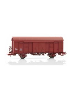Topline Godsvogner, NMJ Topline model of the NSB Gbkl 118 4215-5 boxcar with steel roof and normal wheels., NMJT503.109