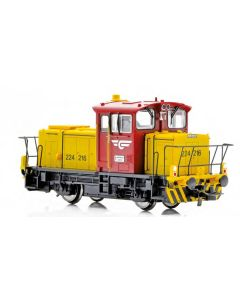 Topline Lokomotiver, New improved SUPERVERSION of the NSB SKd 224.216 DCC digital version with new improved Main PCB with built-in Decoder, Kondensator, with exits for automatic couplers and metal gears,  makes this the perfect shunting tractor., NMJT83.2