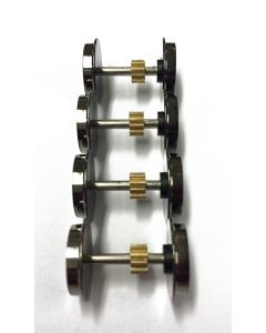 Topline Deler, Wheel set for NMJ Topline NSB EL 17, V2.  4 axels with metal gears., NMJT80.991