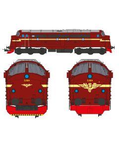 Topline Lokomotiver, nmj-topline-90018-nsb-nohab-di3-604-dc, NMJT90018