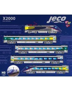 Lokomotiver Svenske, Jeco-A-310-Linx-X2-2042NK-5car-set-DC- H0, JECX2-A310