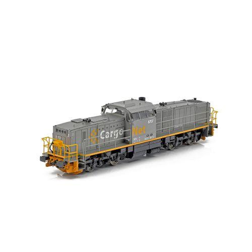 Topline Lokomotiver, NMJ Topline of CargoNet Di8.707 in the silver/yellow livery, DC. , NMJT85.202