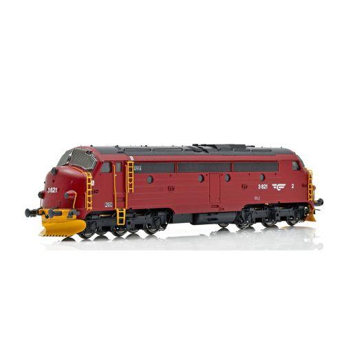Topline Lokomotiver, NMJ Topline model of the NSB Di 3.621 DC, in the red/black livery., NMJT90004