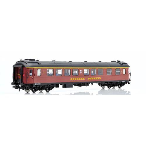 Topline Personvogner, NMJ Topline model of SJ A2FGR 4976 1 Cl. Passenger coach, Inter City version., NMJT201.201