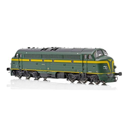Topline Lokomotiver, NMJ Topline model of the SNCB 202020 in original livery and as museum locomotive DCC Sound