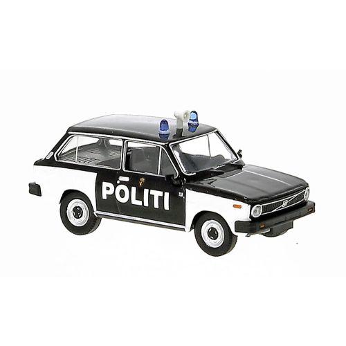 Utrykningskjøretøyer, brekina-27630-volvo-66-norsk-politibil-1975-modellbil-h0, BRE27630